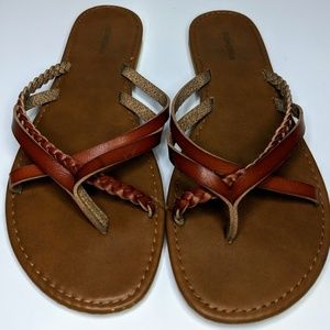 Sonoma Brown Leather Sandals